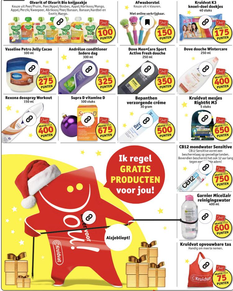 Gratis producten met jouw punten @Kruidvat
