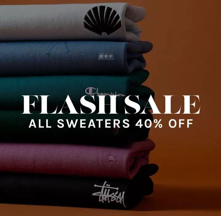 40% korting op sweaters en hoodies bij Fresh Cotton
