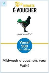 Pathé Midweek e-voucher @Air Miles