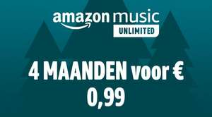 [Amazon.de] Amazon Music Unlimited 4 maanden voor €0.99
