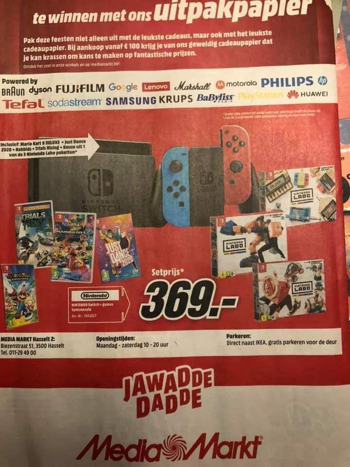 Nintendo Switch met Labo pakketten en meerdere games