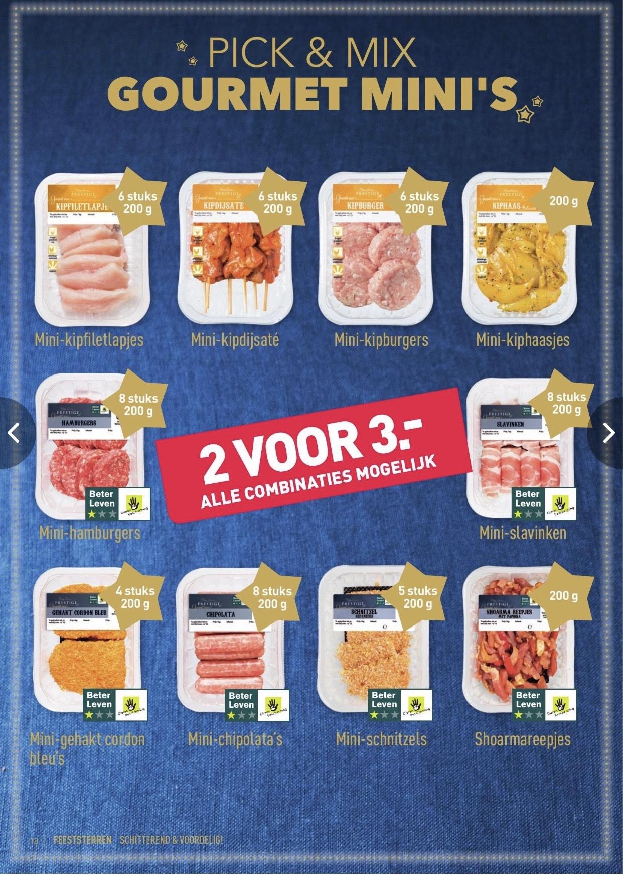 ALDI - Gourmet mini's 2 voor €3