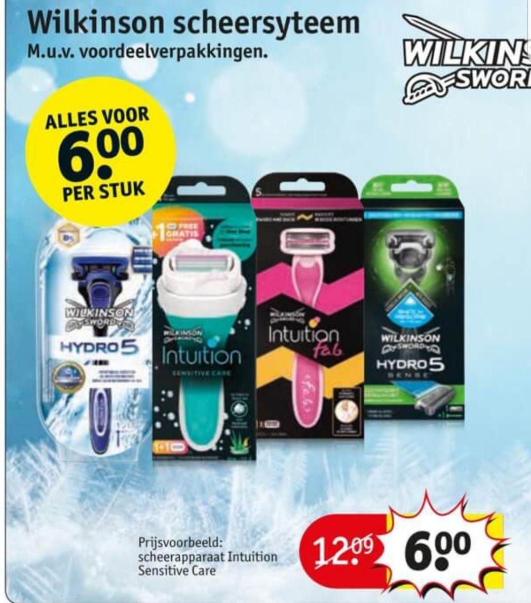 Wilkinson scheersystemen nu €6,-