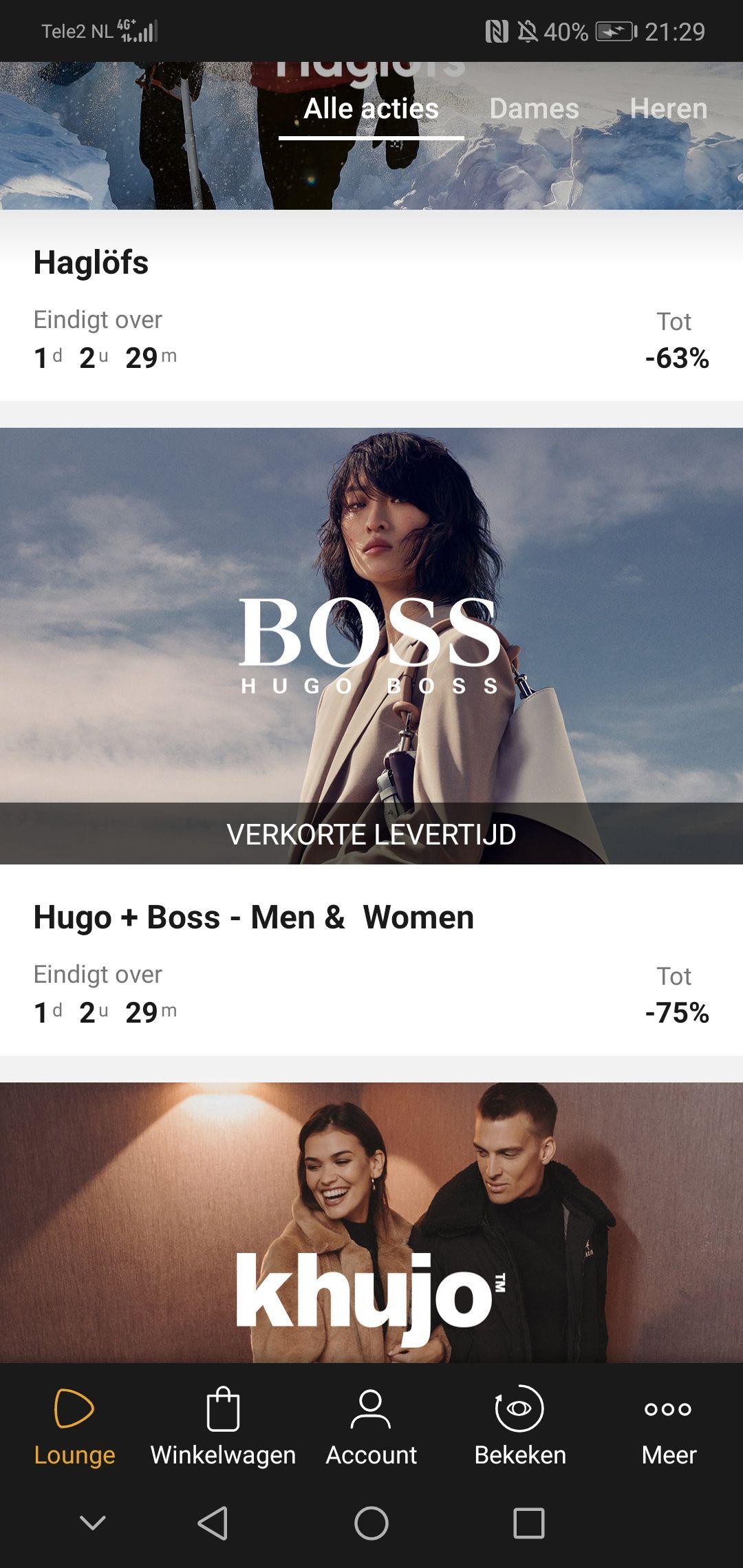 Hugo Boss tot 75% korting bij zalando lounge