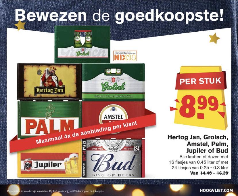 Goedkoop bier met de kerst