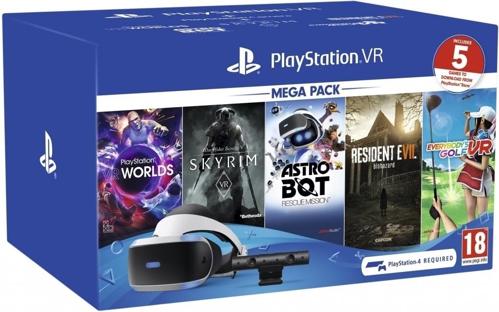 PlayStation VR Mega Pack II + PlayStation Camera + 5 Games