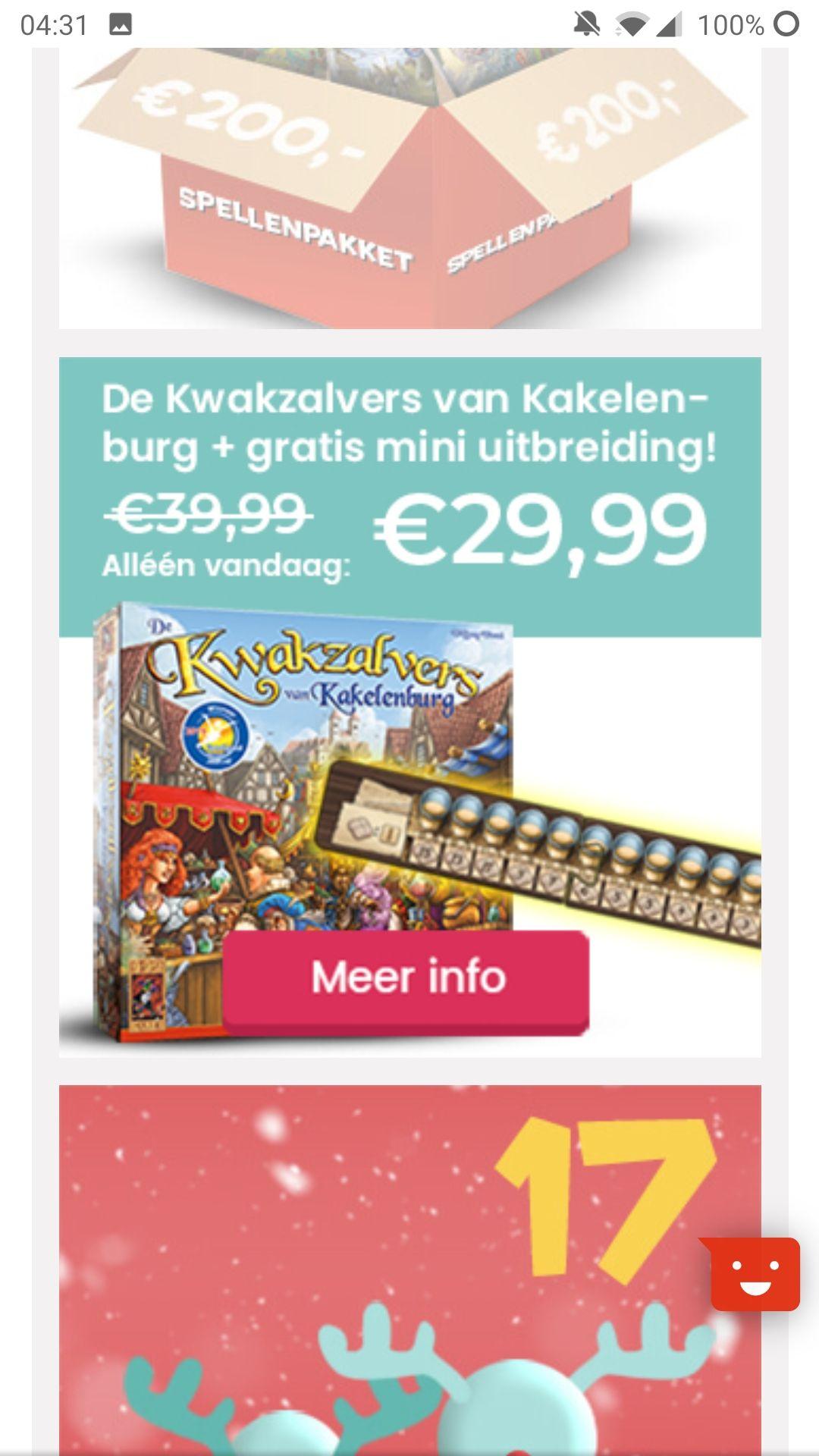 Spel Kwakzalvers! Adventkalender 999 games