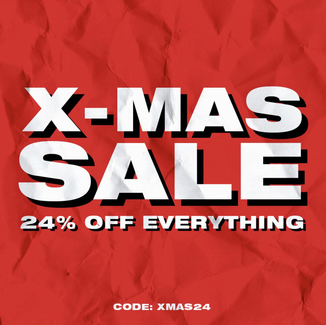 X-MAS SALE 24% Korting op alles bij solebox
