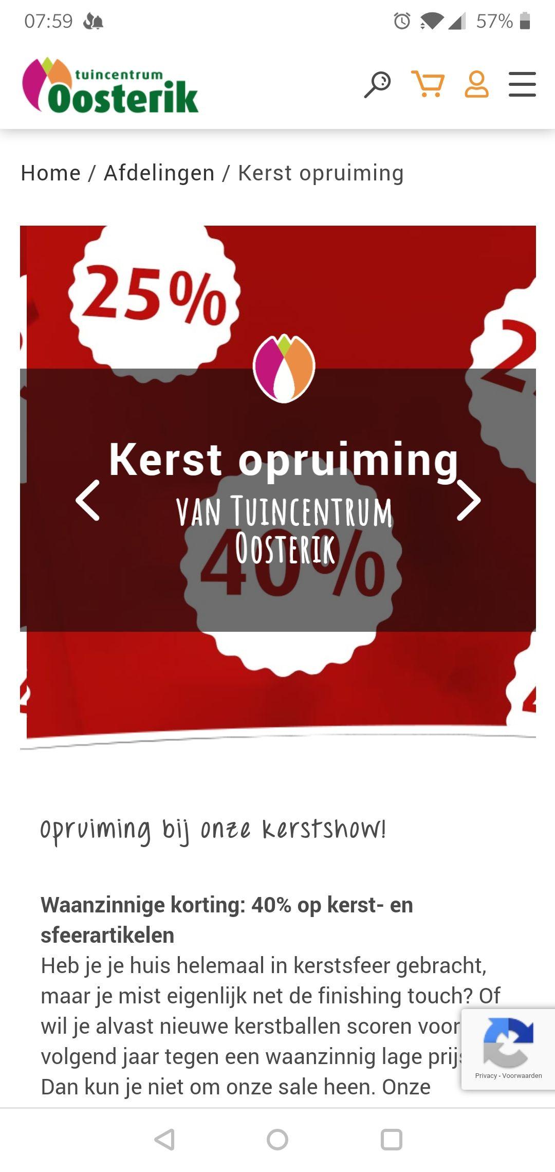 40% korting kerst artikelen bij Oosterik