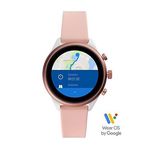 Fossil Smartwatch FTW6022P (Roze)voor dames met siliconen armband @Amazon.de