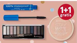 1+1 gratis rimmel make-up bij etos