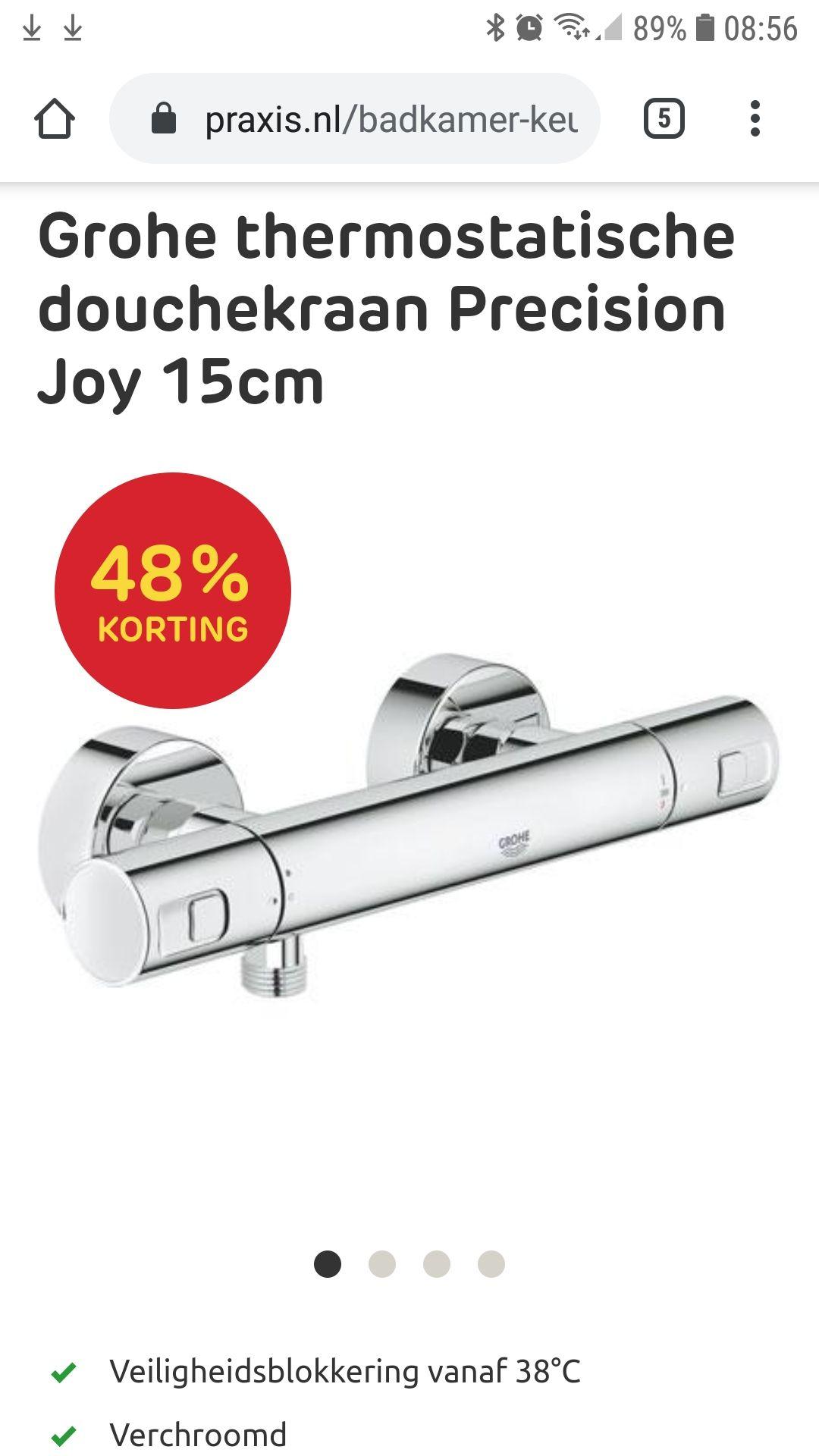 Grohe thermostatische douchekraan Precision Joy 15cm