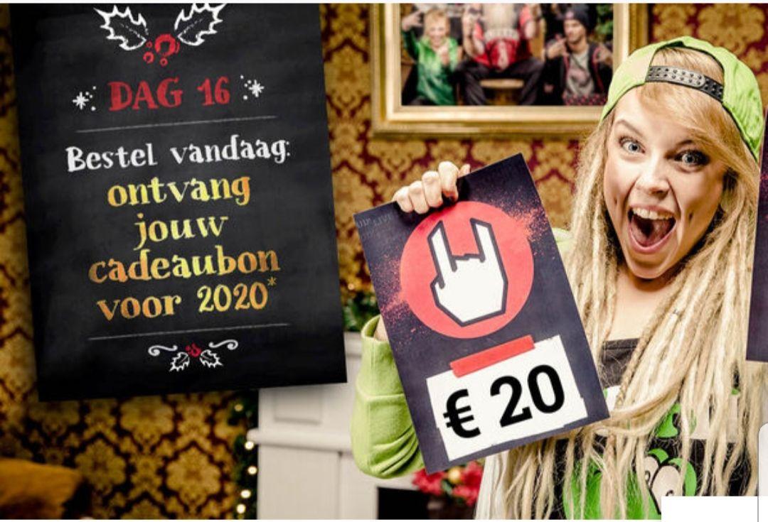 20 euro tegoedbon vandaag bij Large bij besteding van 100 euro