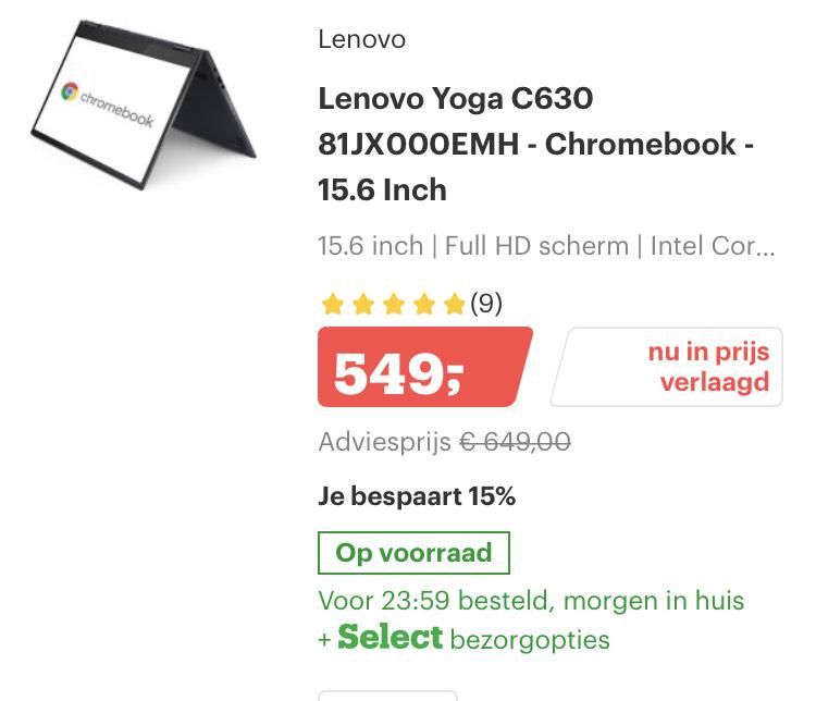 Bol.com Chromebook kerstdeals