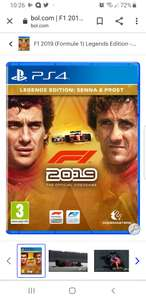 F1 2019 Legends edition PS4