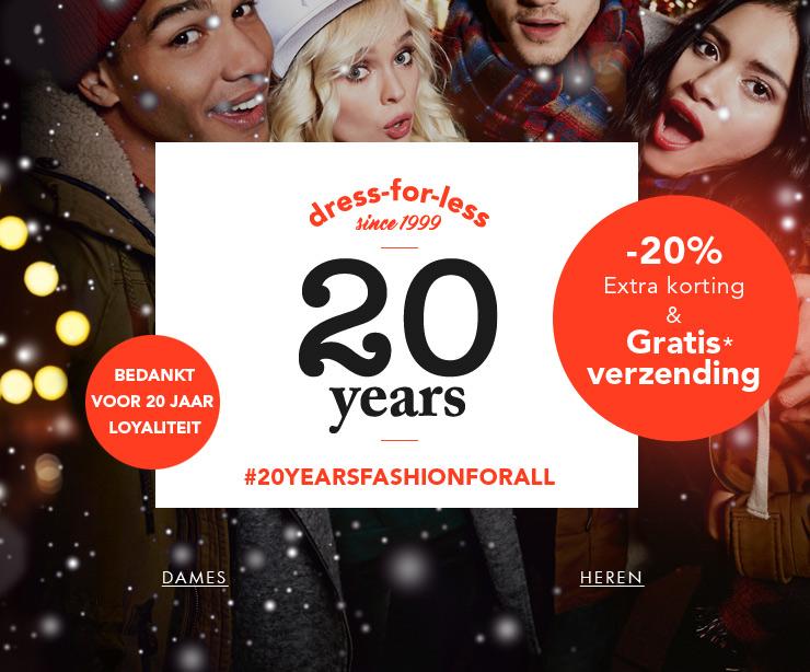 Actie: 20% extra korting + 10% extra + gratis verzending t.w.v. €4,99 @ dress-for-less