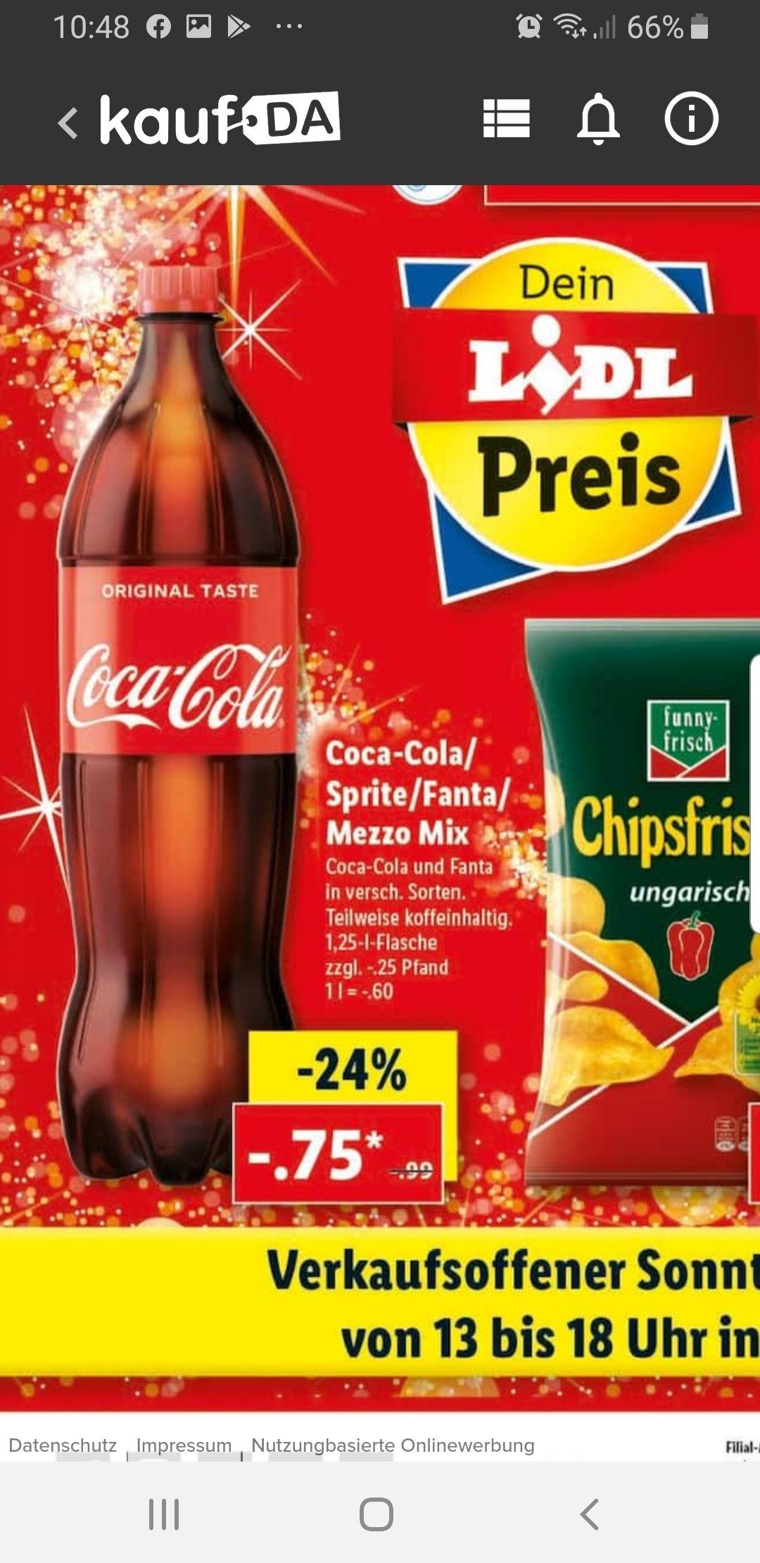 Coca cola, Sprite, Mezzo mix & Fanta [grensdeal]