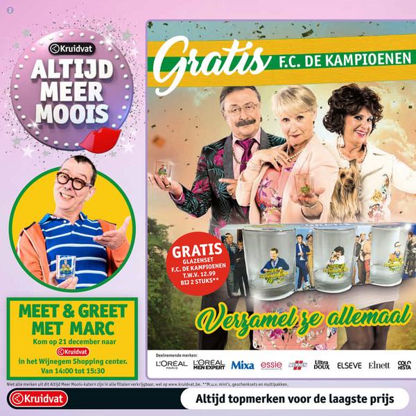 grensdeal Belgie kruidvat:gratis glazensets bij aankoop 2 produkten(waarde 12,95)