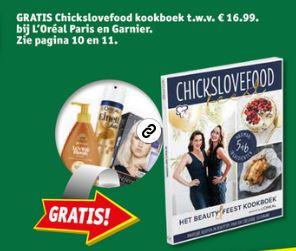 Gratis Chickslovefood kookboek t.w.v. €16,99 bij 2 actieproducten (va €3,73) @ Kruidvat