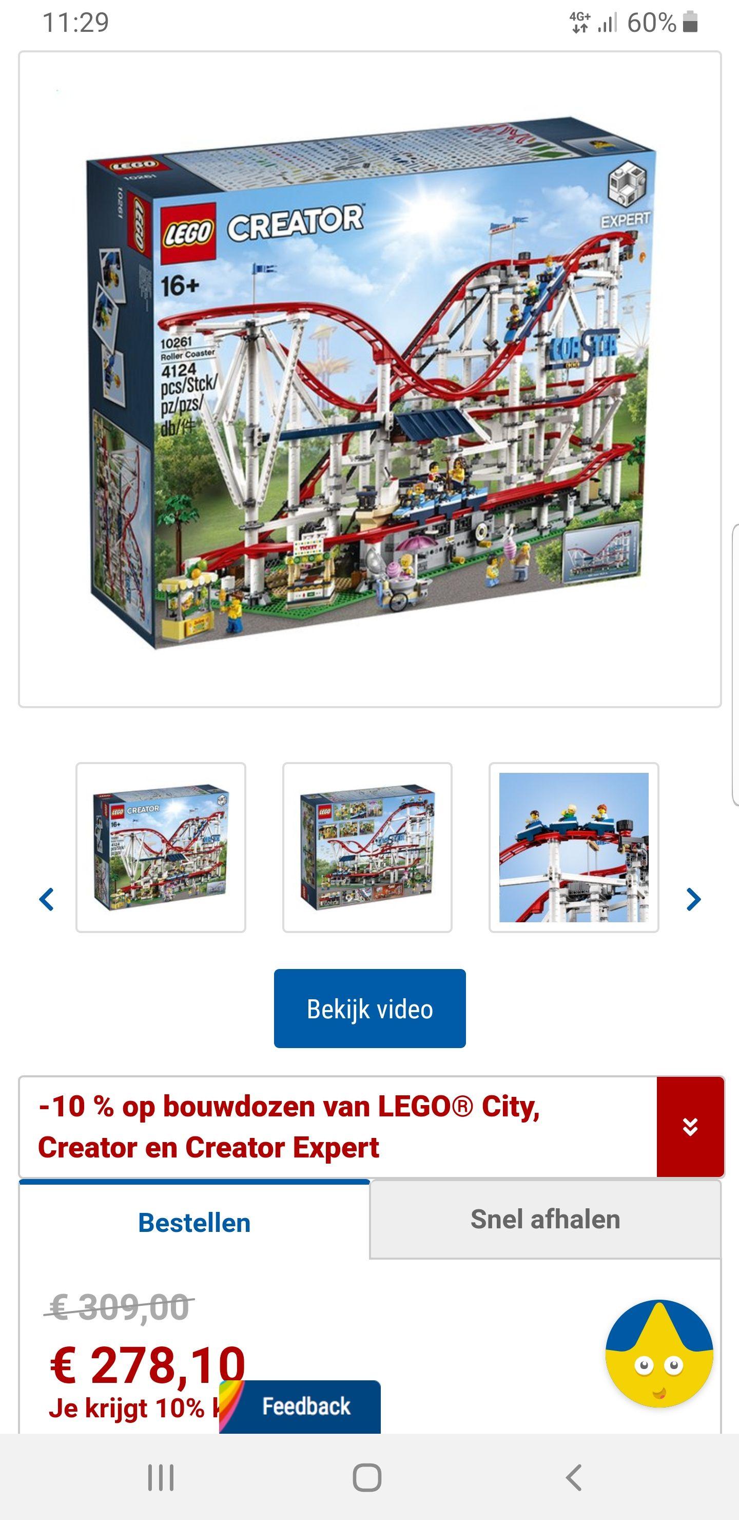 10% korting lego creator en expert