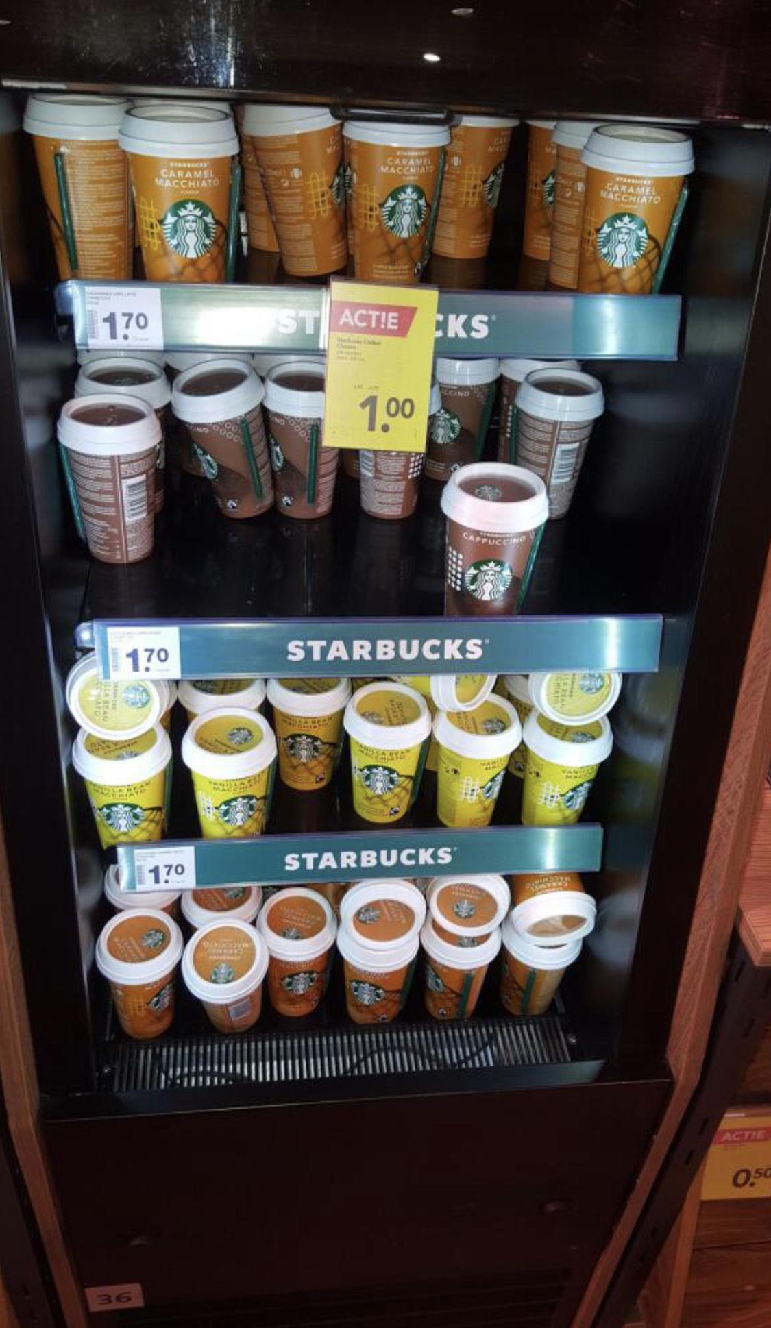 Starbucks coffee voor €1 bij Deen