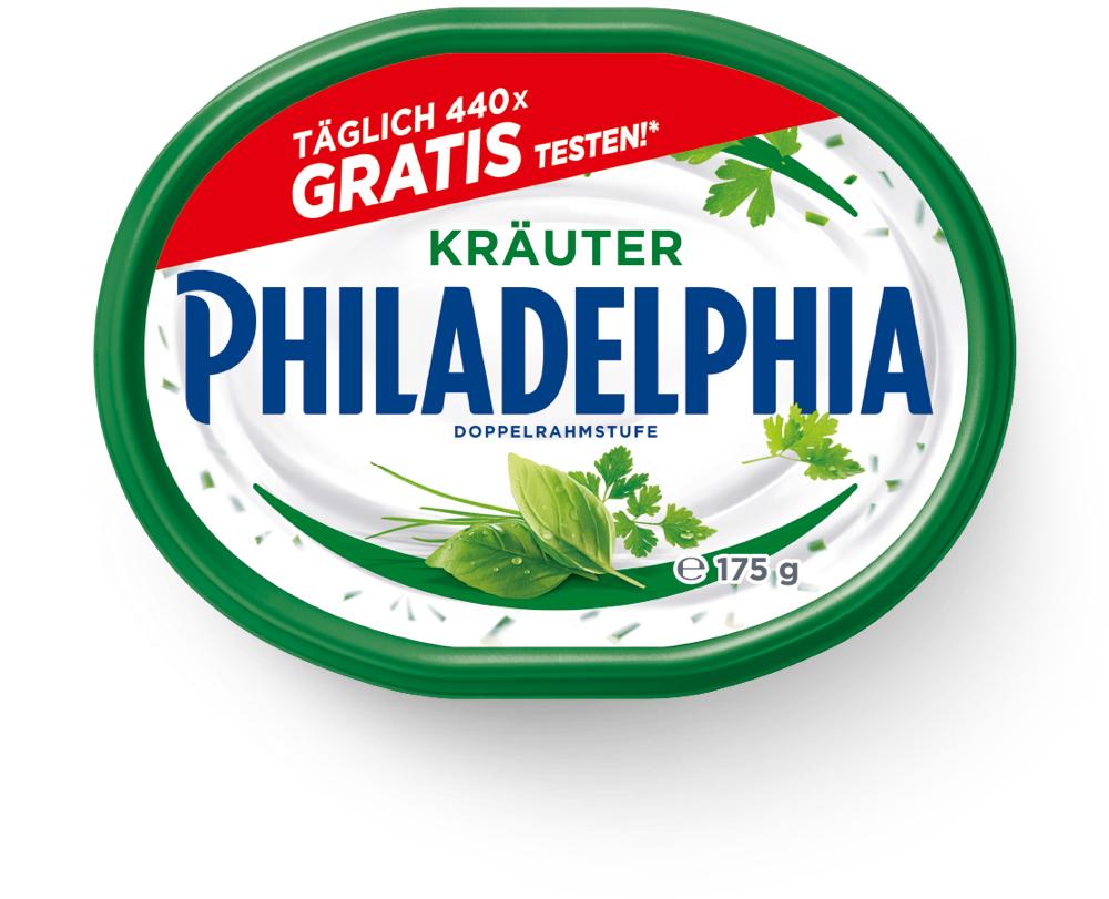 Grensdeal Duitsland - Philadelphia Kräuter gratis testen