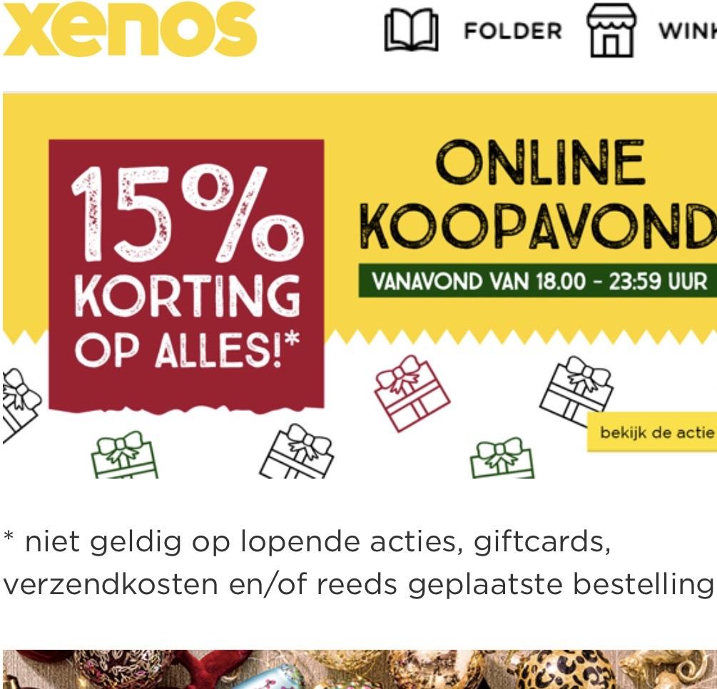 Extra koopavond bij Xenos 15% korting