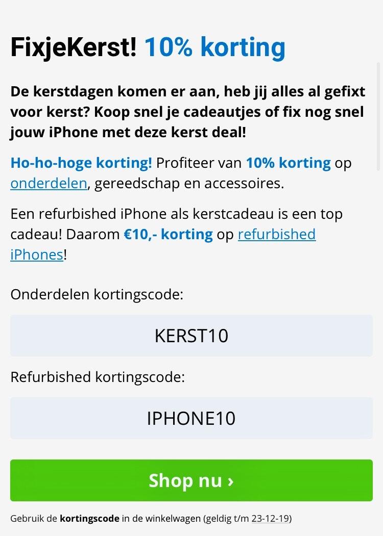 FixjeiPhone 10% korting!
