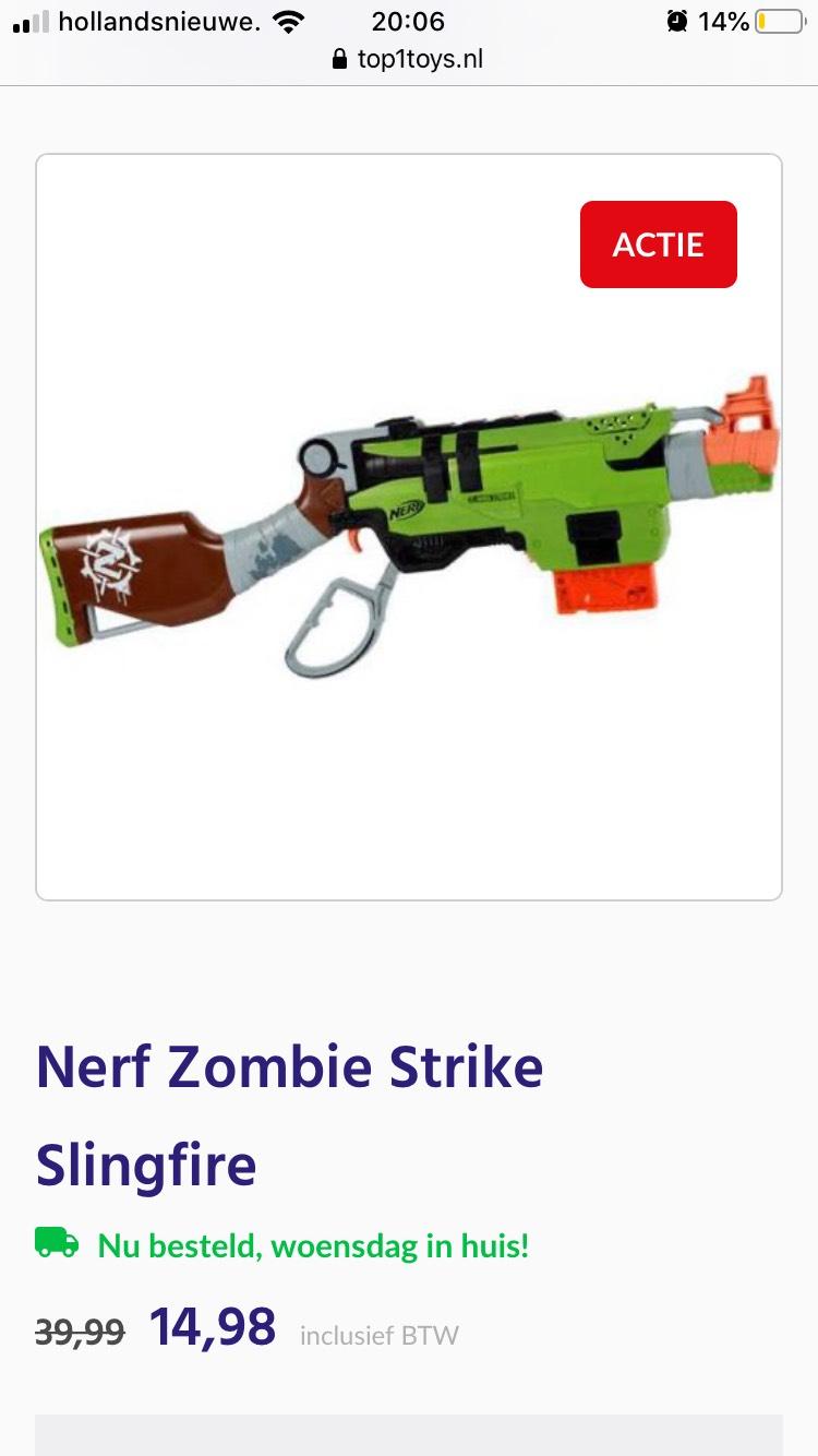 Nerf zombiestrike slingfire voor €14,98