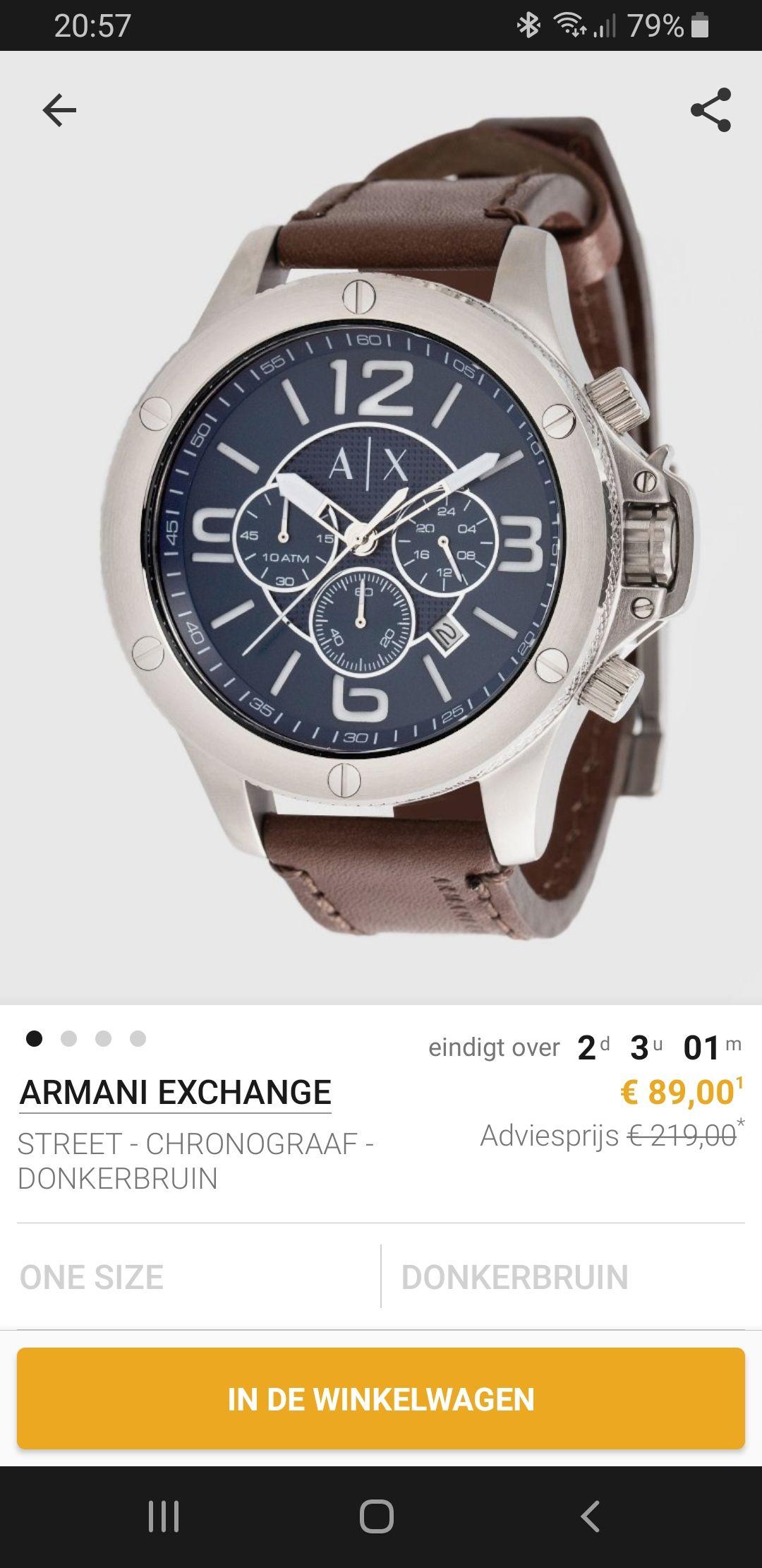Verschillende Armani horloges @zalando lounge