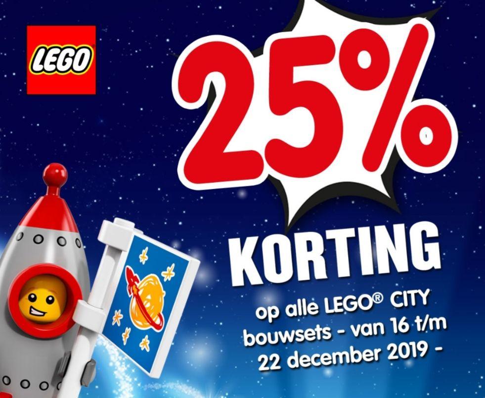 25% korting op LEGO city