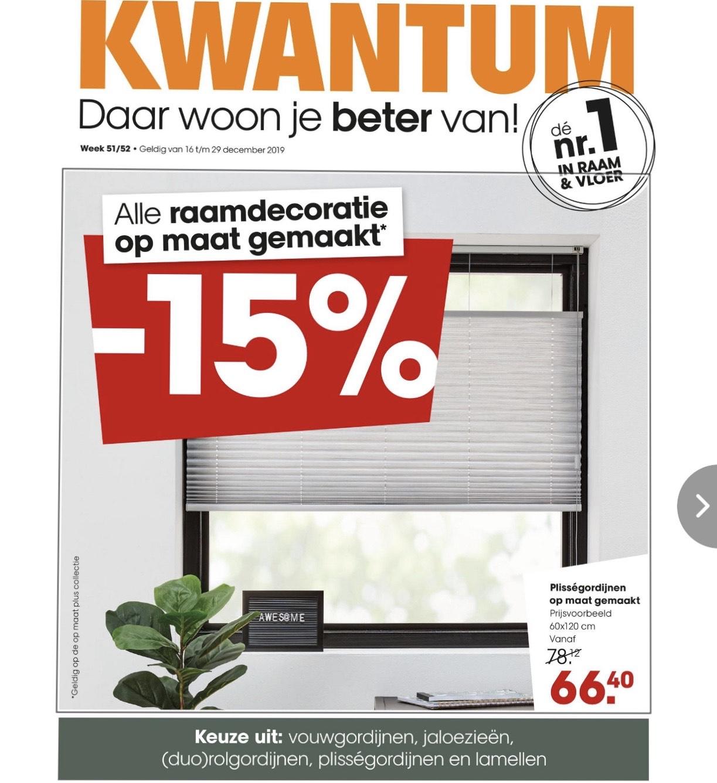 KWANTUM - 15% korting - alle raamdecoratie op maat