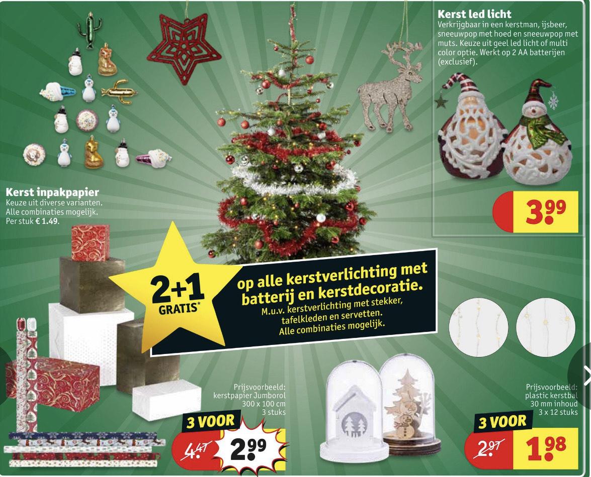 KRUIDVAT - 2+1 op alle alle kerstverlichting met batterij en kerstdecoratie
