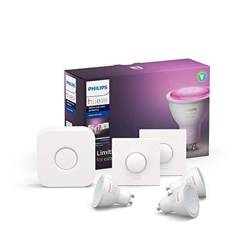 Philips Hue GU10 Starterkit + 2x Hue Smart Button @Amazon.de