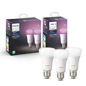 Philips Hue White and Color Ambiance Bluetooth 3-pack E27