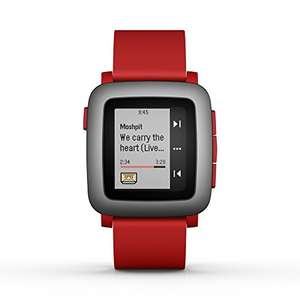 Pebble Time Rood voor €204,07 @ Amazon.fr