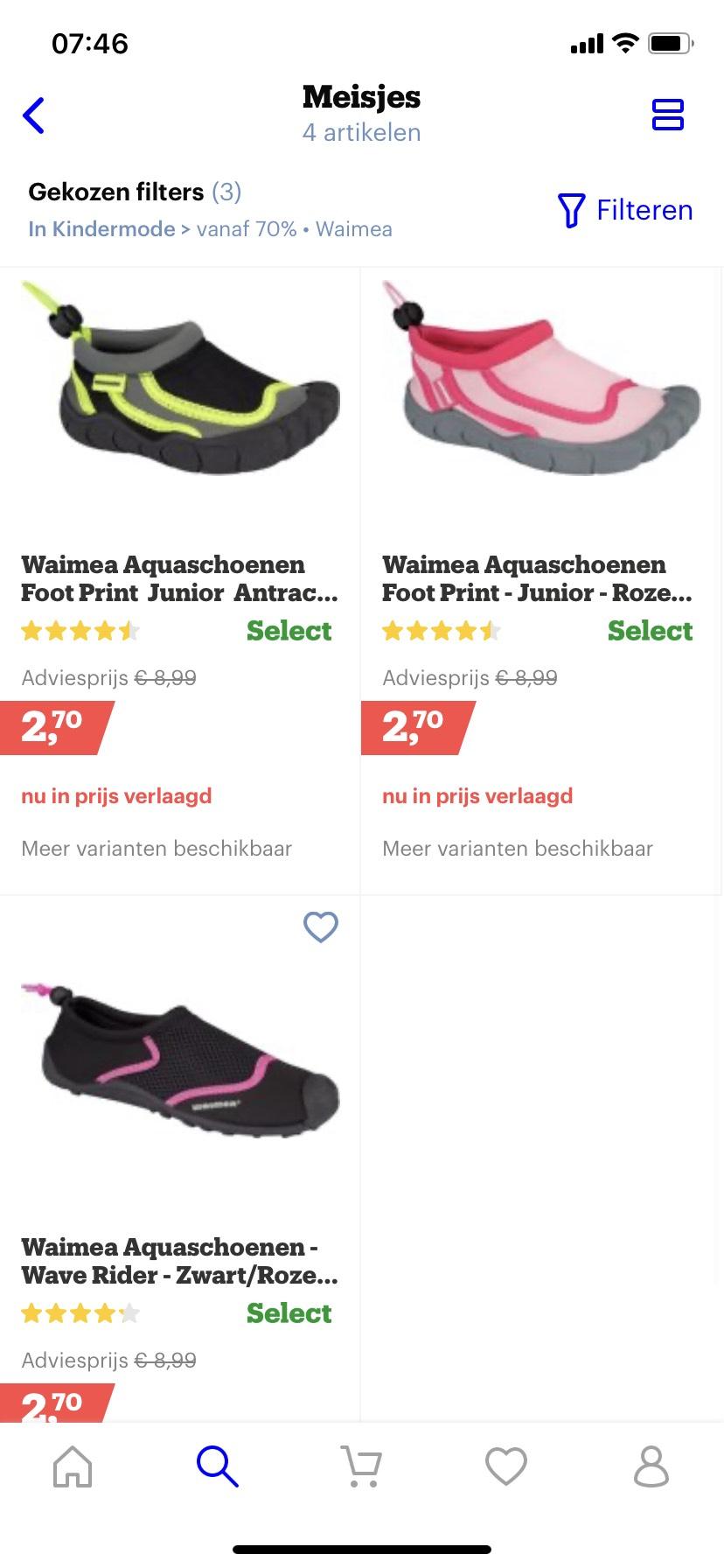 Waimea waterschoenen bij bol.com met flinke korting