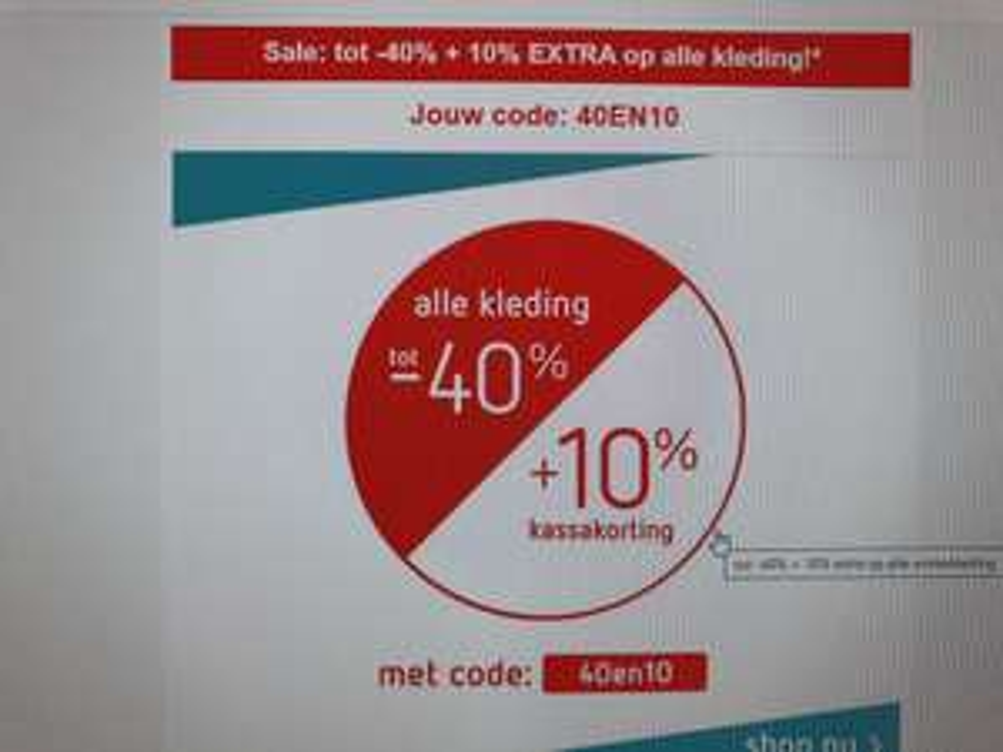 Sale bij kleertjes.com: tot 40% + 10% EXTRA