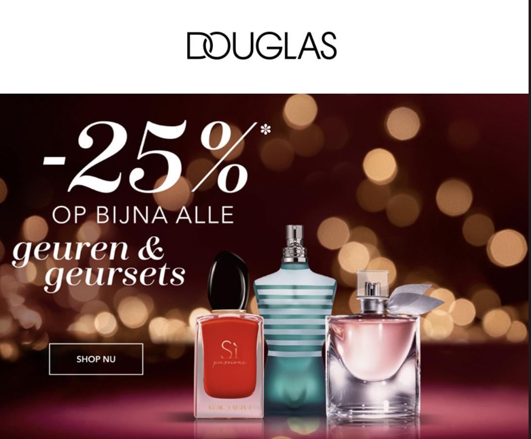DOUGLAS - 25% korting op bijna alle geuren en geursets