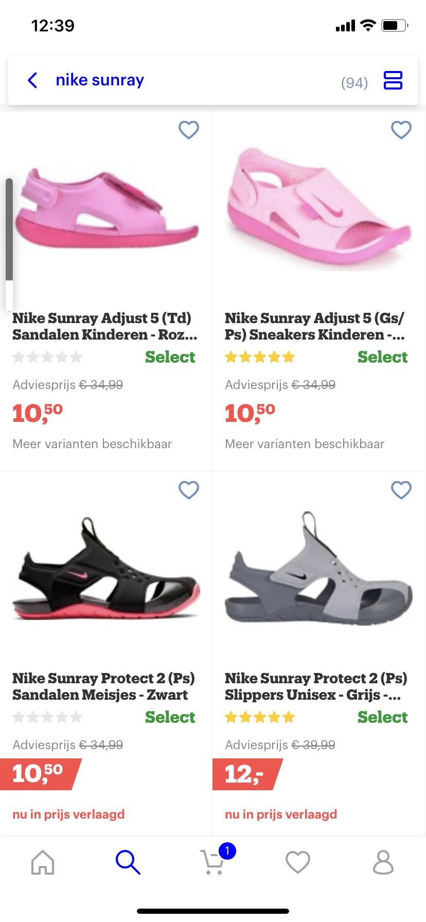 Nike sunray schoenen met flinke korting bij bol