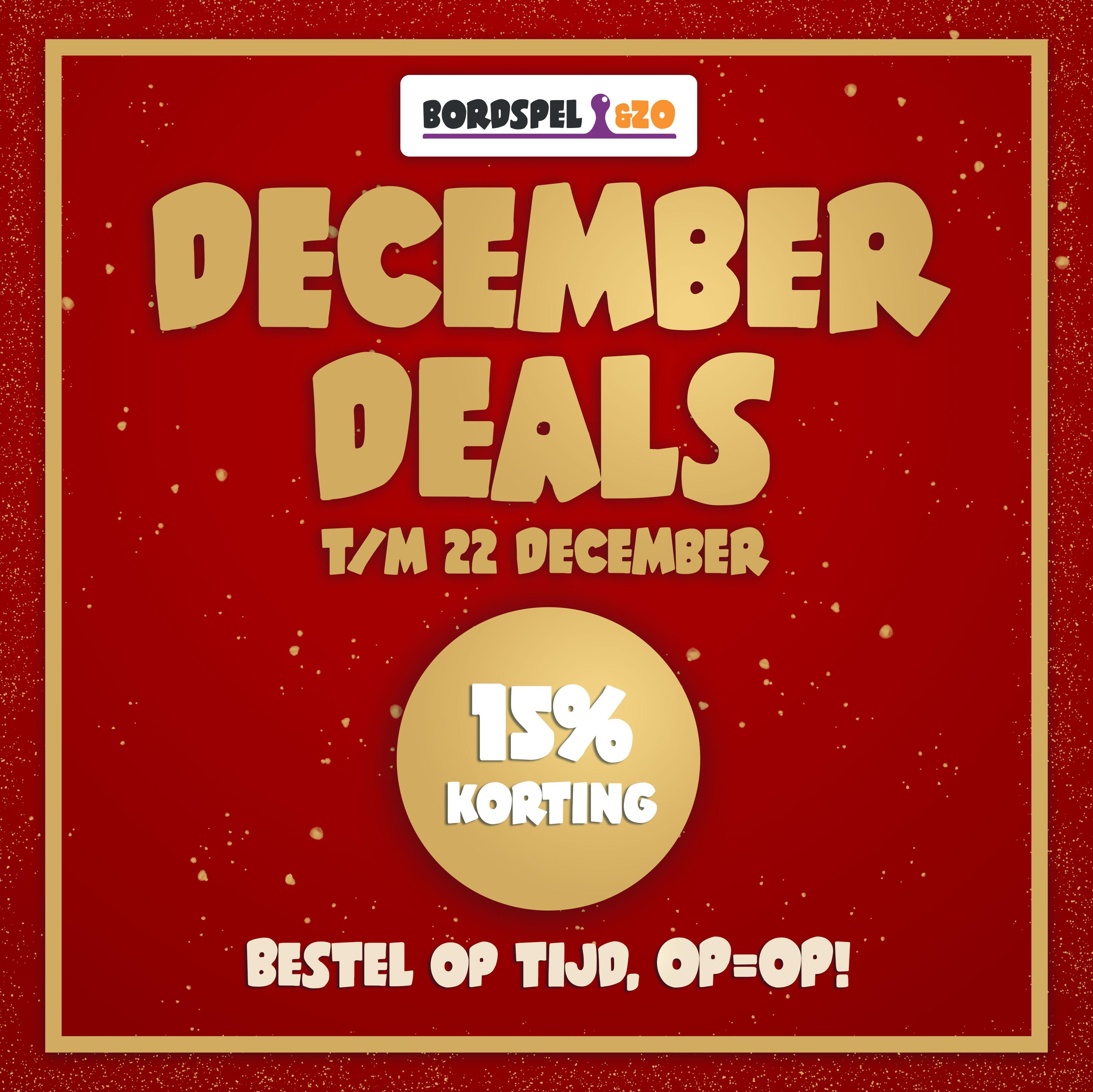 Bordspel&zo - December Deals - 15% korting