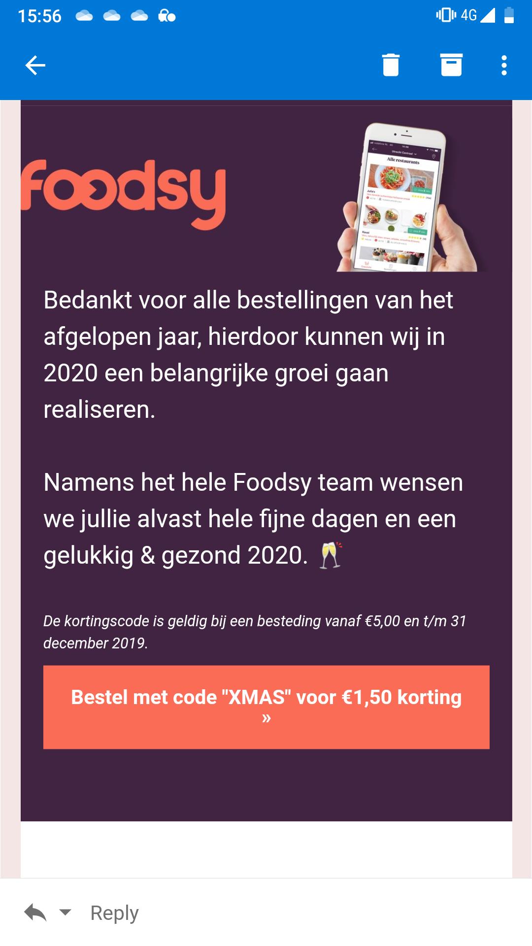 Foodsy - €1,50 korting
