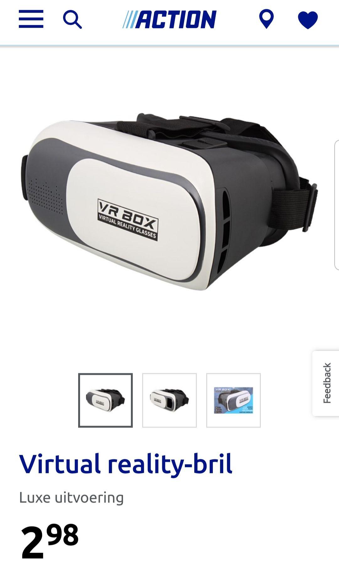Virtual reality bril, zeer goedkoop! Action