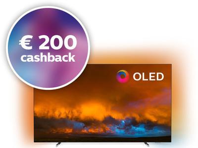 """Philips 55"""" 4K OLED TV (55OLED804/12) met €200 cashback @ING + 19 ING-punten"""