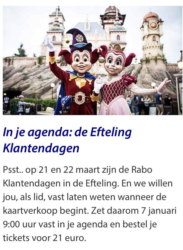 Rabo klantendagen Efteling