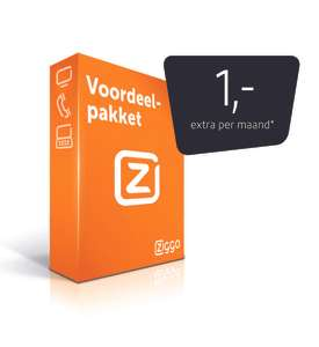 [Ziggo TV klanten] Internet + bellen voor 1 euro per maand