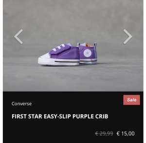 Kidslovesneakers.nl Converse FIRST STAR EASY-SLIP PURPLE CRIB