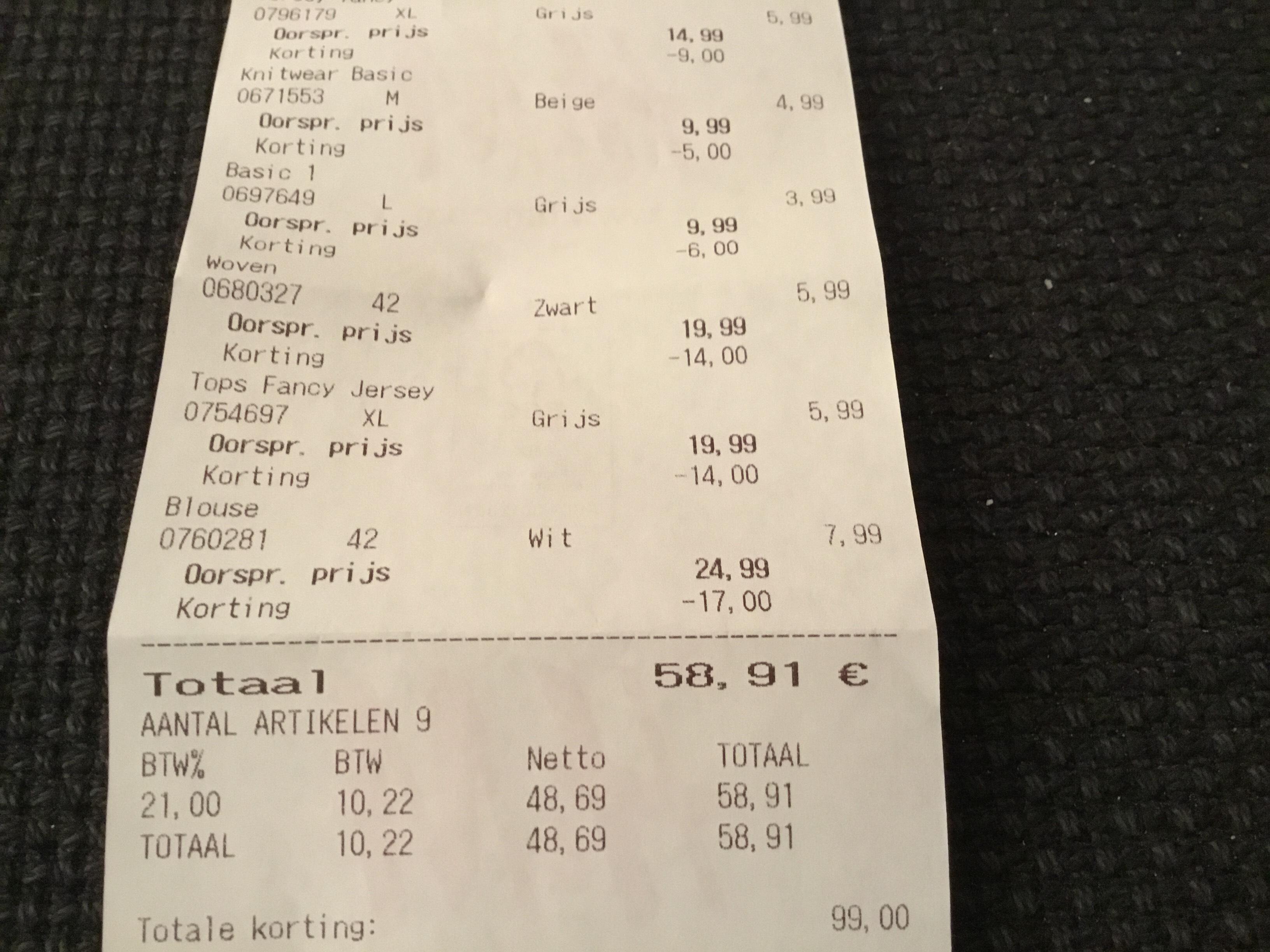 H&M sale in store