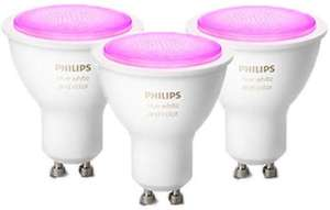 Philips Hue White & Color Ambiance Smart Lamp 3 Pack LED Bundle [GU10 Spot] met Bluetooth
