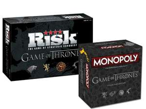 Game of Thrones Risk + Monopoly Collector's Editions